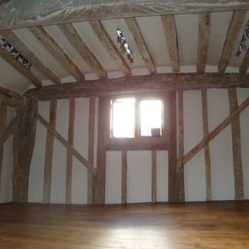 listed building with beams